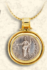 Pendant with Scale of Justice Coin