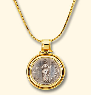 Gold pendant with chain makes a unique corporate executive business previous setting next setting aloadofball Choice Image